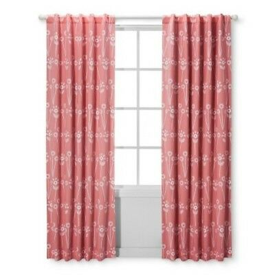 "NEW Blackout Curtain Panel Floral (42""x 84"") - Cloud Island  Pink"