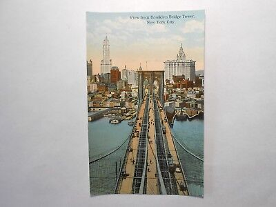 Old Postcard, NEW YORK CITY, NEW YORK, VIEW FROM BROOKLYN BRIDGE TOWER