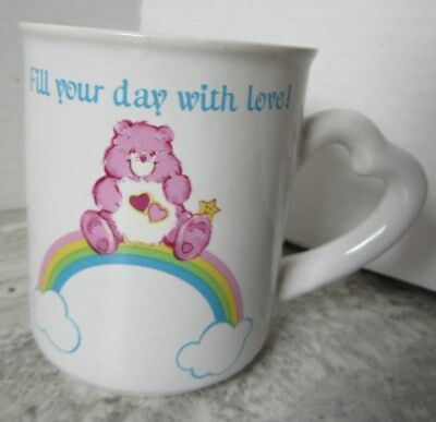Vintage 1983 American Greetings Care Bears Coffee Mug Fill your Day With Love