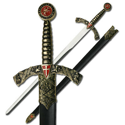 "NEW 42"" Christian Crusader Knight's Templar Medieval Long Sword"
