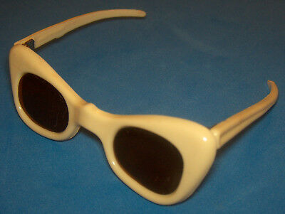 "Vintage Madame Alexander Cissy Doll Cream 3"" Sunglasses Made in France"