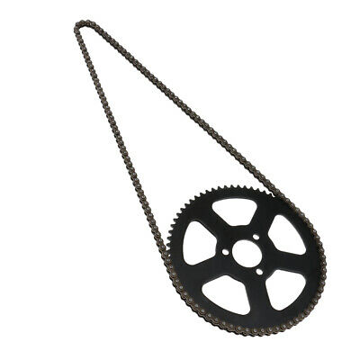 25H 68T 68 Tooth Rear Sprocket + Chain for 49cc 2 Stroke Mini Pocket Bike