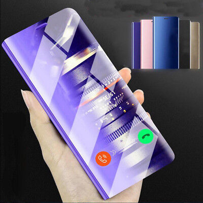 Luxury Mirror Smart Clear View Plating Flip Stand Case Cover For Xiaomi Redmi 4X