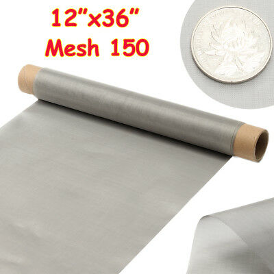 304 Stainless Steel 150 Mesh Wire Cloth Woven Screen Filtration Filter 30 x 90cm