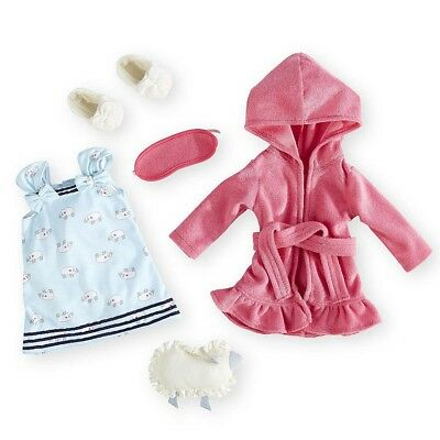 Journey Girls Pajama and Robe Fashion Outfit for 18 inch Doll - Pink
