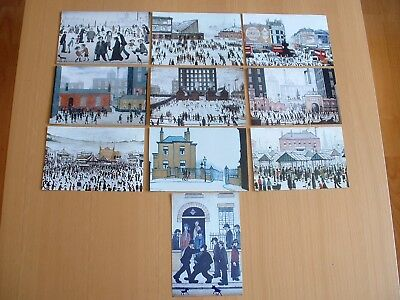 "L S Lowry Art Prints  Set Of Ten Postcard Size Photo  Prints 6X4"" Reproductions"