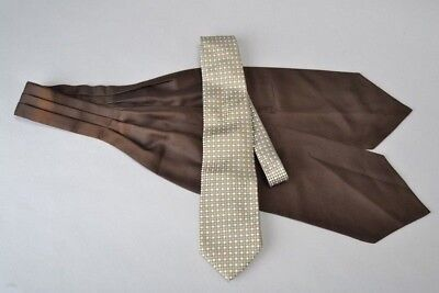 Jim Thompson All Silk Tie and Immaculate Turnbull & Asser Silk Cravat. Ref FUV