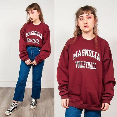 90's Sweatshirt Usa College Burgundy & White Magnolia University Arkansas 18