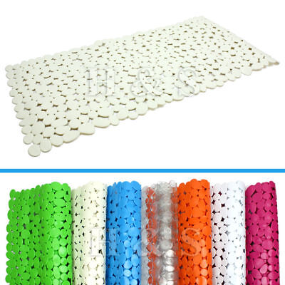 High Quality Large Strong Suction Anti Non Slip Bath Shower Mat Pebble Rubber