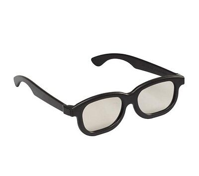 3D Glasses Passive Polarized Black Home Movies Cinema Films TVs Game (1 Pair)
