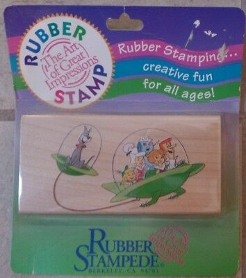 Rubber Stampede Hanna-Barbera The Jetsons Spaceshitp Rubber Stamp New in Package