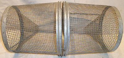 VINTAGE Wire Mesh Fishing Minnow Trap Baske tfor Light Chandelier Steampunk Lamp