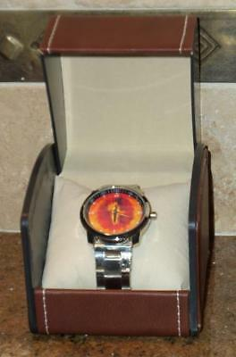 Tolkien ~ LORD OF THE RINGS ~ EYE OF SAURON ~ STAINLESS STEEL WRISTWATCH ~ WATCH