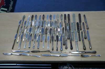 Lot of 67 Flatware Silver Plate Miscellaneous Knives Knife FREE SHIPPING 1