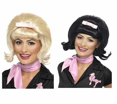 Ladies Flick Wig 1950s Style Diner Beehive Bob Wig Fancy Dress