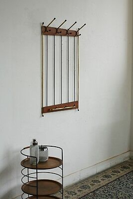 TRUE VINTAGE 70er TEAK Danish Modern WANDGARDEROBE Garderobe 60er String Messing