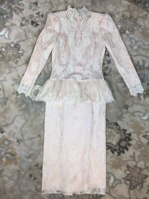 VINTAGE LIGHT PINK Jessica McClintock 80s Prom Dress Sz 8 Off ...