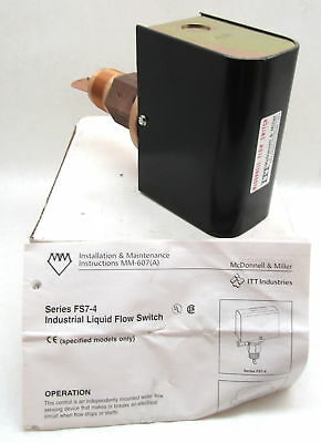 "Mcdonnell Miller FS7-4 Liquid Flow Switch 1 1/4"" NPT 120/240VAC"