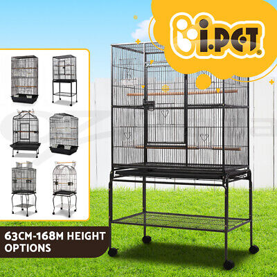 i.Pet Bird Cage Parrot Pet Carrier Portable Canary Budgie Finch Perch S M Sizes