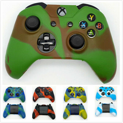 Camouflage Silicone Rubber Case Cover Skin for Xbox One / S / X Controller NEW