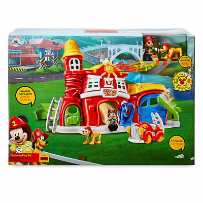 BNIB: Disney's Mickey Mouse Firehouse Play Set (Clubhouse/Micky/Club) Age 2+