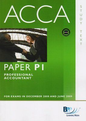 ACCA - P1 Professional Accountant: Study Text,BPP Learning Media