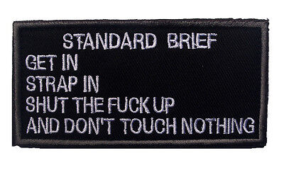 standard brief ARMY MORALE BADGE TACTICAL MILITARY EMBROIDERED PATCH  A  705