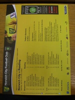 17 04 2004 COLOUR Teamsheet Norwich City v Walsall Any faults with