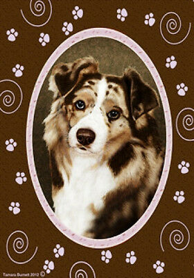 Garden Indoor/Outdoor Paws Flag - Red Merle Australian Shepherd 172021