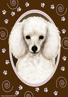 Garden Indoor/Outdoor Paws Flag - White Poodle 170041