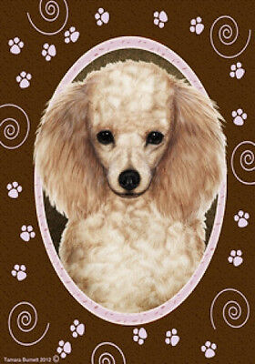 Garden Indoor/Outdoor Paws Flag - Apricot Poodle 170161