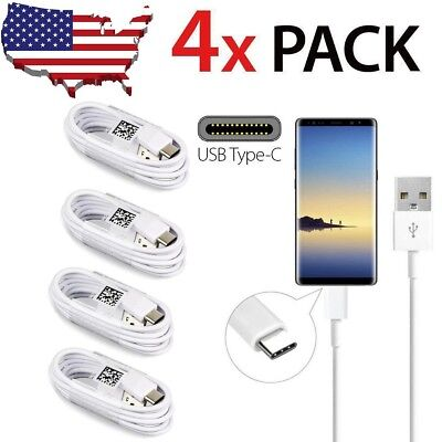 4pcs USB Type C Data Fast Charging Cable Cord For Samsung Galaxy S9 S8 Note 9 8