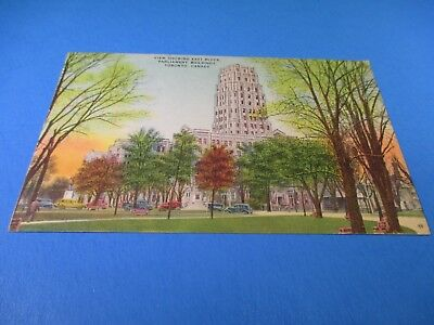 Vintage View East Block Parliament Buildings Toronto Canada Post Card PC50