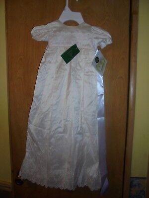 VINTAGE  POSIES VICTORIA CHRISTENING GOWN DRESS w/HAT NEW  LAST TIME LISTED