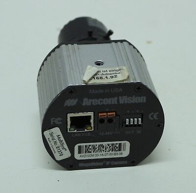 Arecont AV2100M IP Camera Color, 2MP, MJPEG, 1600x1200 + Objektiv Kamera