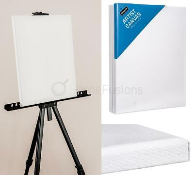 4 x HILLINGTON BLANK CANVAS WHITE STRETCHED ARTIST CANVAS RECTANGLE BOARD 30x40c