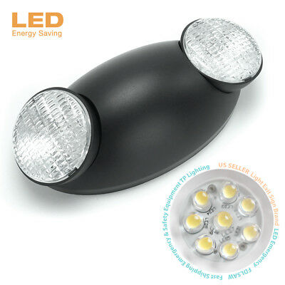 Black Emergency Exit Bug Eye Head Light Standard LED Spot Light w/ Side Lights