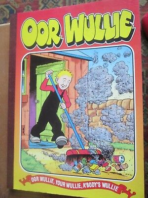 OOR WULLIE cartoon book from the Sunday Post 1998 card backed