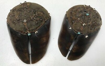Incredible Antique Eduardian Hooved Pin Cushions Pair!!