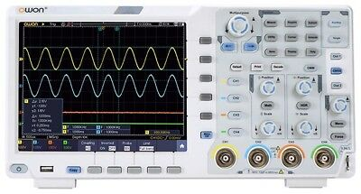 OWON XDS3104E 100MHz 4CH 8 bits Touch Low Noise Digital Oscilloscope/I2C,SPI,RS2
