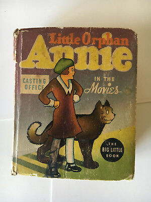 Little Orphan Annie In The Movies (1937, Whitman ) Big Little Book blb