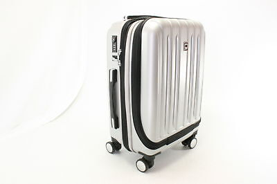 a72cba6121 Delsey Luggage Helium Titanium International Carry On Spinner Silver One  Size