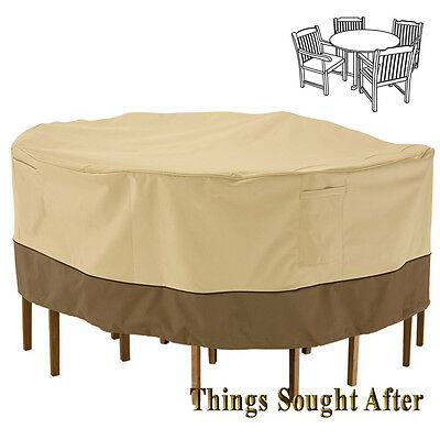 COVER for SMALL ROUND PATIO TABLE & CHAIR SET Outdoor Furniture Picnic VERANDA