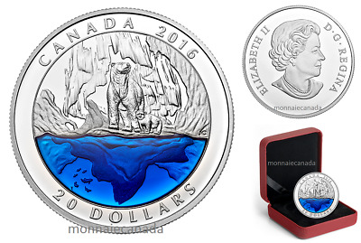 2016 Canada $20 Fine Silver Coin - Polar Bear - Iconic Canada - E609 - NO TAX