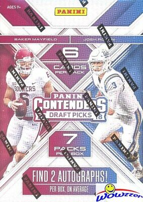 2018 Panini Contenders Football Draft Picks EXCLUSIVE Blaster Box-2 AUTOGRAPHS