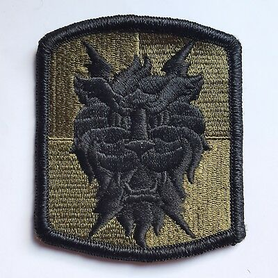 U.s. Army Aufnäher Klett Patch 35Th Signal Brigade Oliv Subdued Tarn Original