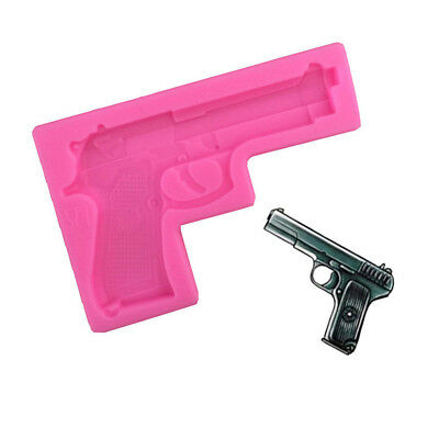 3d silicone mold pistol gun shape fondant jelly molds cake decorating tools WF