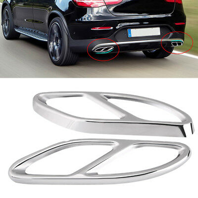 Exhaust Pipe Tips Cover for Mercedes A B C E GLC W205 Coupe W212 W246 W213 W176