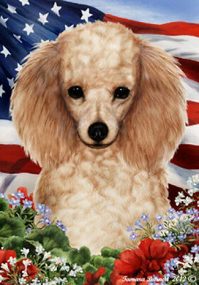 Large Indoor/Outdoor Patriotic I Flag - Apricot Poodle 16016