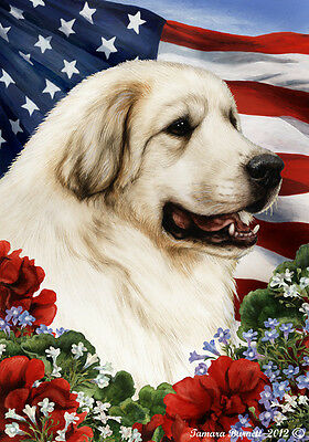 Large Indoor/Outdoor Patriotic I Flag - Great Pyrenees 16146